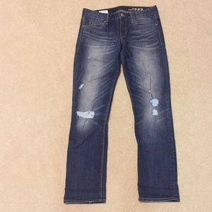 GAP 1969 Real Straight Distressed Jeans 26p